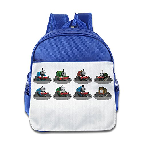 XJBD Custom Cool Thomas And His Friends Are Boys And Girls School Bagpack For 1-6 Years Old RoyalBlue