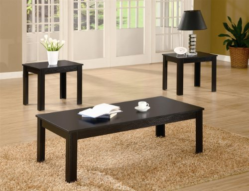 Luke 3 Piece Casual Occasional Table Set in Black