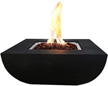 """Amazon.com : Modeno 33.9"""" inch Natural Gas Fire Pit Table Outdoor Patio Furniture Fire Table ..."""