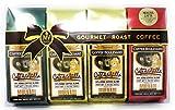 Gourmet Roast Kona Coffee Gift Pack, Ground, 3 Flavors, 4 Bags (1.75 Oz., 50g)