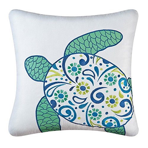 Imperial Coast Square Meridian Sea Turtle Pillow by C F