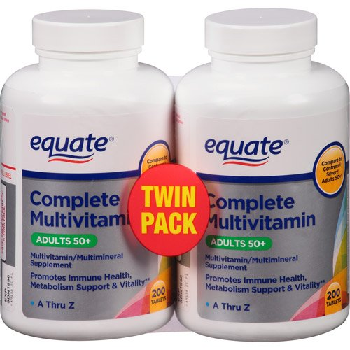 Equate Mature Adult 50+ One Daily Complete Multivitamin Compare to Centrum Silver
