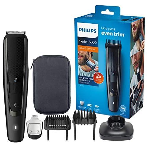 chollos oferta descuentos barato Philips BEARDTRIMMER Series 5000 Barbero BT5515 15 Afeitadora Negro 0 4 mm 2 cm 90 min AC Batería 1 h