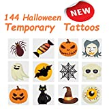 2'' Halloween Pumpkin Temporary Tattoos, 12 Assorted Styles (144 Pcs) Ideal to fill your trick or treat bags, Great Halloween Party Favor, By 4E's Novelty,