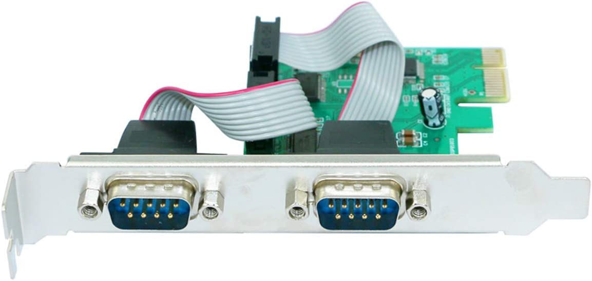 PCI-E-Adapter PCI-E an serielle Karte mit Netzteil WCH382L Master-Chip ST32 Serieller RS232-Kartenadapter f/ür PCI-E an 2 Ports F/ür Windows 98SE//ME//2000//XP//Win 7//Win 8//Win 10 32 64-Bit-DOS