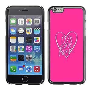 """For Apple Apple iPhone 6 / 6S (4.7 inches!!!) Plus / 6S Plus ( 5.5 ) Case , Look rosa Corazón Limpio minimalista texto"""" - Diseño Patrón Teléfono Caso Cubierta Case Bumper Duro Protección Case Cover Funda"""