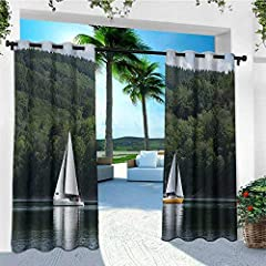 Outdoor curtains work best in warmer climates, offering shade and bug protection. Besides, impress your friends, family and guests with this Extre Wide Indoor /Outdoor Grommet Top Blackout Curtain Panels.       These simple yet elegant...