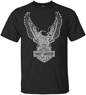 HARLEY DAVIDSON Men's T Shirt Eagle Graphic Short Sleeve Tee Black Tee 30296656