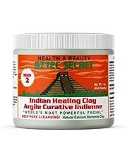 Aztec Secret Healing Clay 1 lb (454 grams) - New Version 2 - Deep Pore Cleansing Facial & Body Mask - The Original 100% Natural Calcium Bentonite Clay - New Version 2