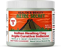 Aztec Secret Healing Clay 1 lb (454 grams) - New Version 2 - Deep Pore Cleansing Facial & Body Mask - The Original 100%...