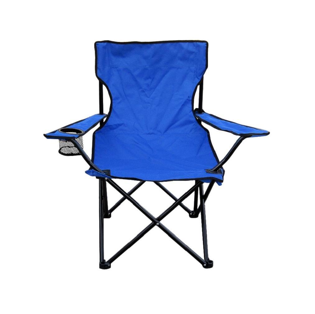JpoqW ( TM ) Foldingサンドビーチキャンプハイキングアウトドア釣りポータブルQuad Chair 50*50*80cm ブルー JPOQW17090702 B075FLF6N3  ブルー
