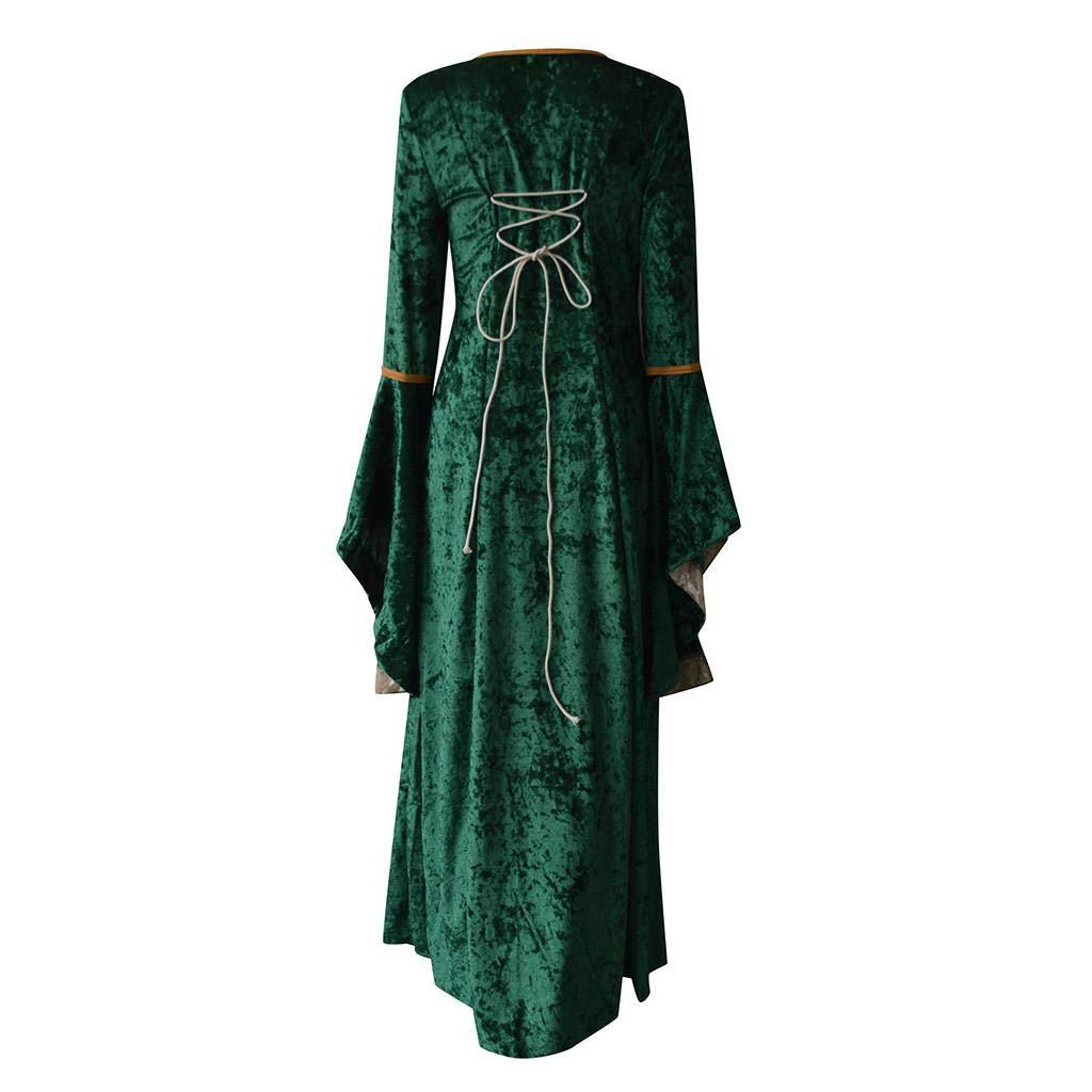 Vestiti Donna Elegante VICGREY ❤ Donna Vintage Rinascimentale Medievale Abito,Manica Lunga Fancy Cosplay Vestito Partito Costume