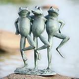 SPI Home 33430 Dancing Frog Trio Sculpture For Sale