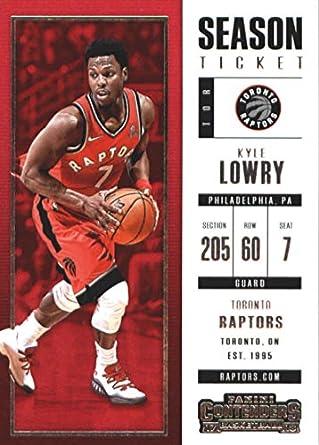 0cd0d9a7fcb2 2017-18 Panini Contenders Season Ticket (Base)  68 Kyle Lowry Toronto  Raptors