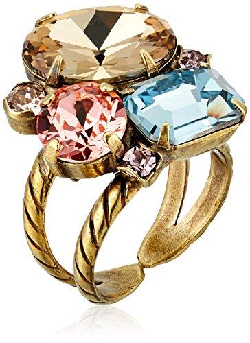 - Sorrelli Rustic Bloom Multi-Cut Crystal Cluster Ring