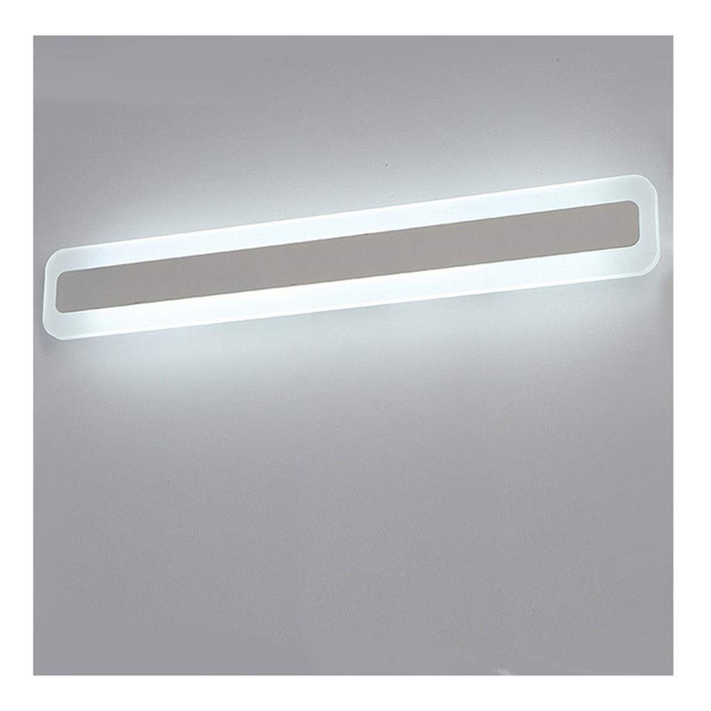 レンズライト 浴室の虚栄心ミラーライトLED防水と防曇ドレッシングルームの洗面器ランプアクリルハードウェア バスルームライト (色 : B, サイズ さいず : 60cm) B07RR39H3Q B 60cm