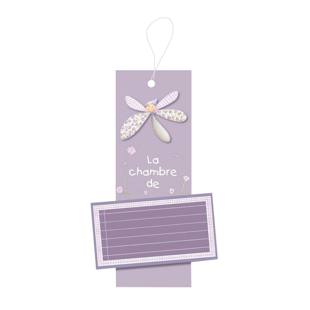 Titoutam T1002 Plaque de Porte Personnalisable Sidonie Violet