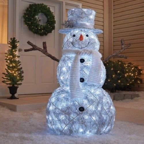 Outdoor Led Lighted Snowman - 8