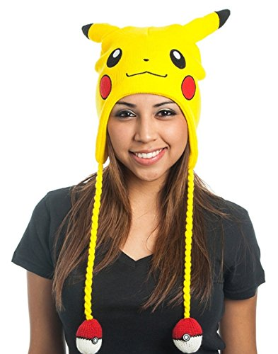 bioWorld Pokemon Pikachu Laplander Fleece Beanie Cap with Ears -