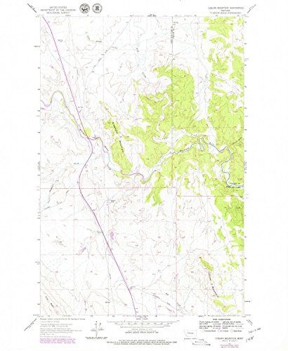YellowMaps Coburn Mountain MT topo map, 1:24000 Scale, 7.5 X 7.5 Minute, Historical, 1961, Updated 1979, 26.8 x 22 in - Paper