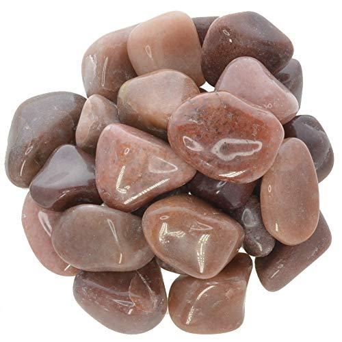 (Hypnotic Gems Materials: 1 lb Red Aventurine Tumbled Stones - Grade 2 - Medium - 1