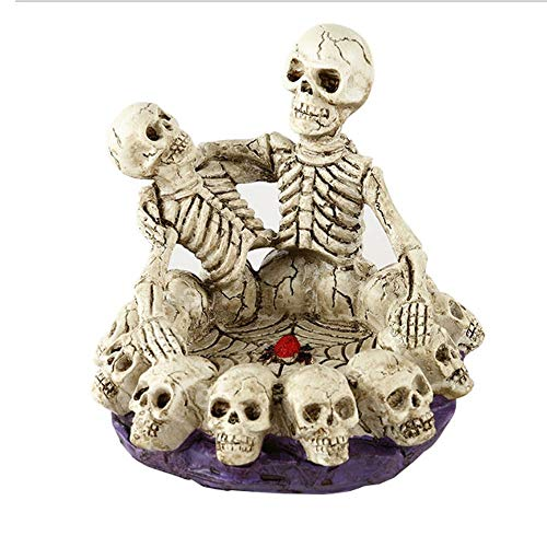 WangZhiGang Halloween Skull Ashtray, Eco-Resin Material, Suitable for Festivals, Bars, Theme Party Horror Decoration, is a Creative Gift for -