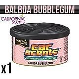 CALIFORNIA CAR SCENTS BALBOA BUBBLEGUM AIR FRESHENER HOME VAN OFFICE TAXI x 1