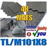 48 Interlocking Soft Foam Mats 192 Sq...