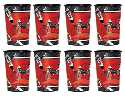 Power Rangers Ninja Steel Plastic Reusable Keepsake Cups Favor Container 8 count -