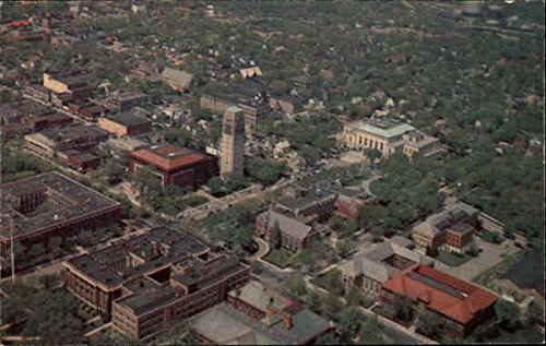 University of Michigan: Aerial View of the Mall Ann Arbor Original Vintage - Arbor Mall Ann