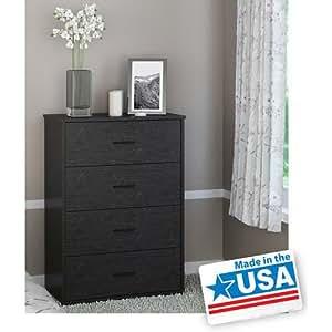 Gracelove 4 Drawer Dresser Chest Bedroom Furniture Storage Wood Drawers 5 Colors