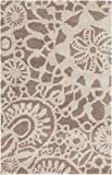 Surya Kate Spain Alhambra ALH-5000 Hand Tufted 100-Percent New Zealand Wool Floral and Paisley Accent Rug, 2-Feet by 3-Feet