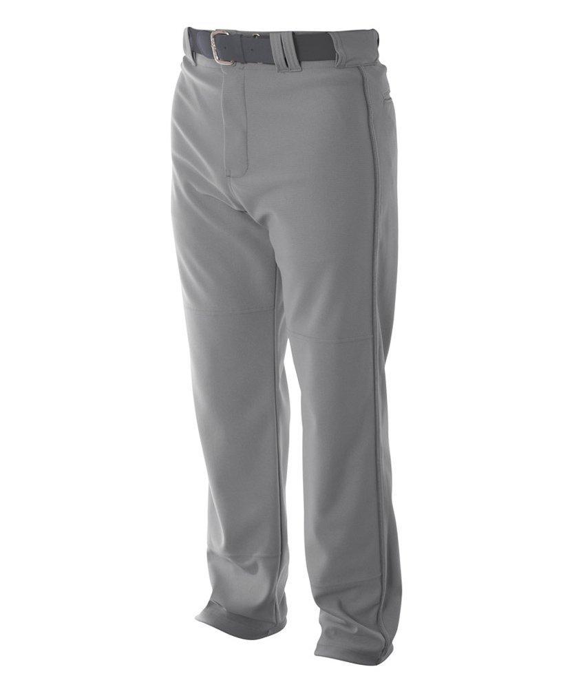 A4 野球用 バギーパンツ メンズ プロ仕様 パイピング入り B00B2BJ8WC XL|グレー グレー XL