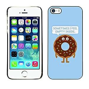 Cubierta de la caja de protección la piel dura para el Apple iPhone 5 / 5S - quote doughnut food cooking