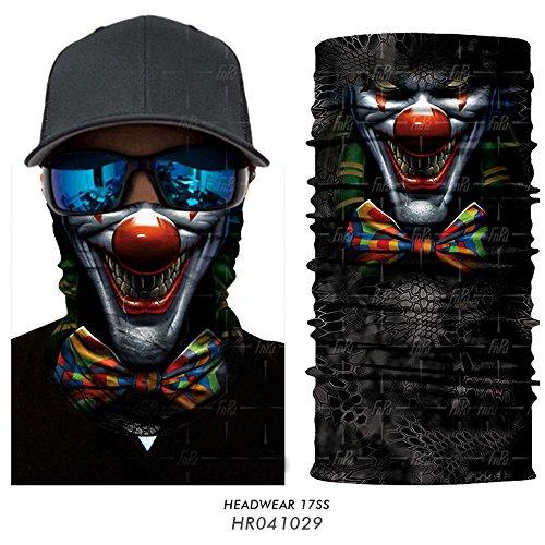 3D Joker Skull Cycling Neck Face Mask Tube Head Scarf Balaclava Headband Bandana