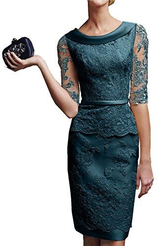 Spitze Tinte La Promkleider Blau Knielang Marie Blau Royal Etuikleider Langarm Abendkleider mit Damen Braut Brautmutterkleider 4rq1X4