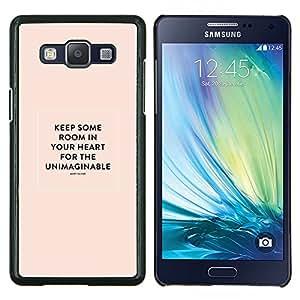 Stuss Case / Funda Carcasa protectora - Corazón Cita inspiradora María Oliver Peach - Samsung Galaxy A5 ( A5000 ) 2014 Version