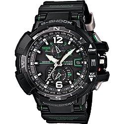 Casio G-Shock GWA-1100-1A3 G-Aviation Series Mens Stylish Watch - Black / One Size