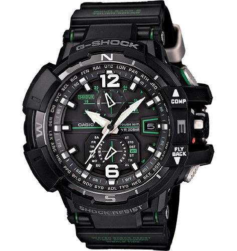 Casio G-Shock GWA-1100-1A3 G-Aviation Series Mens Stylish Watch - Black / One Size -  0007976791416