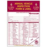 J.J. Keller - Annual Vehicle Inspection Report and Label, pack of 10