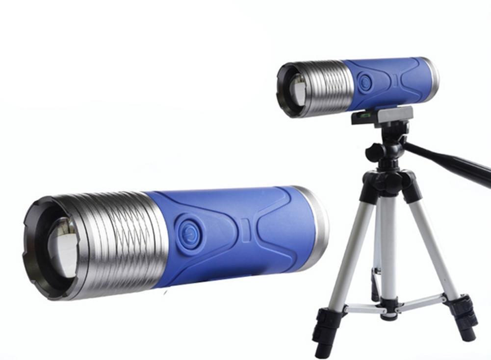 DZW Ultra-Bright Dual-Source Fischen Licht wasserdicht Blau Night Angeln Lichter Angeln Jagd Köder Fisch Licht Zoom Dimmen Ladung Angeln Lampe blau