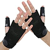 Crossfit Gloves-Crossfit Grips & Gymnastics Grips-Cross Training Gloves for WODs,Pull Ups, Kettlebell Workout & Weight lifting + Free Thumb Sleeve. Protect Your Palm & Fingers From Rips & Tears