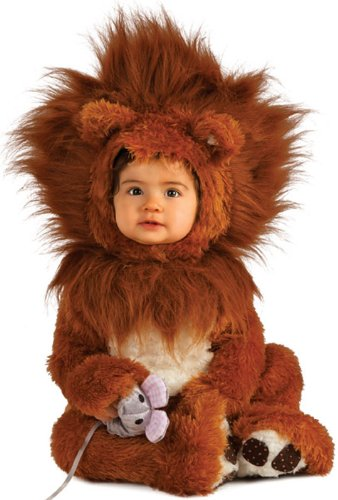 Rubie's Costume Co Unisex-baby Infant Noah Ark Lion Cub Romper, Brown/Beige, 12-18 (Infant Costumes)