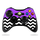Protective Vinyl Skin Decal Cover for Microsoft Xbox 360 Controller wrap sticker skins Purple Chevron