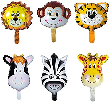 Vordas 12 Piezas Globos Animales Cumpleaños, Globos Animales Helio, Decoración de la Fiesta de Cumpleaños de los Niños (Tamaño: 20cm)