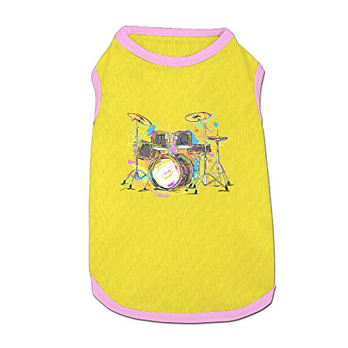 Musical Costume Design (Mushanxiang Band Musical Instruments Summer New Fashion Design Sleeveless Doggy Pet Costume T-Shirt Pet Clothes Petwear For Cat Dog S)