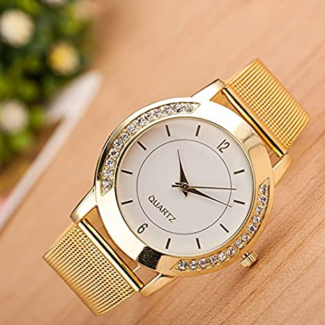 Amazon.com: Gorday Watches for Women On Sale Clearance,Women Crystal Analog Quartz Watch Fashion Wrist Watch Casual Business Bracelet Watches Gift,Round ...