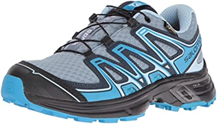 Salomon Women's Wings Flyte 2 Gtx W-W Trail Runner, Windy Blue/Black/Blue Dream, 5 D US
