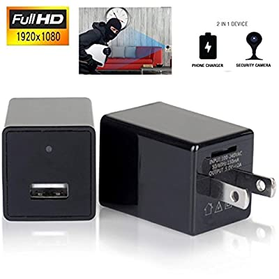 Spy Camera 1080P Hidden Camera USB [newest model 2019] Wall Charger Spy Camera Adapter Motion Detection 32gb support