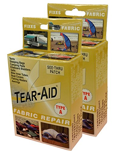 Neoprene Raft - Tear-Aid Fabric Repair Kit, Gold Box Type A (2 Pack)